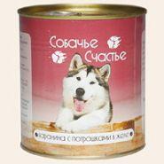 Собачье счастье Баранина с потрошками в желе (750 г)