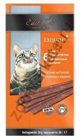 Edel Cat Лакомство для кошек Деликатесные колбаски с Ягненком и Индейкой, 6 шт*30 г.