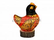 Эксклюзивный сувенир «Курочка» Подарок ручной работы Хохлома