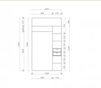 Встроенный шкаф-купе | В прихожую |  Фото внутри  | Купить в Екатеринбурге недорого
