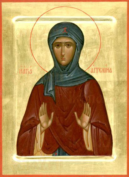 Икона Ангелина Сербская (рукописная)