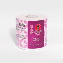 MANEKI Бумага туалетная, серия Kabi, 3 слоя, 280 л., 39.2 м, гладкая, белая с ароматом Ириса, 1 рулон