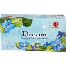 """Maneki салфетки бумажные """"Dream"""" двухслойные, тон белые, 200 шт."""