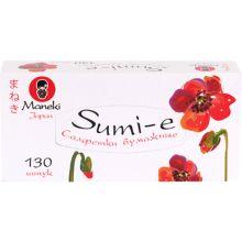 """Maneki салфетки бумажные """"Sumi-e"""" двухслойные, тон белые, 130 шт"""