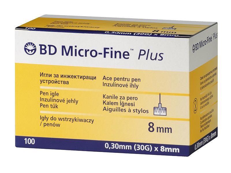 BD Miсro-Fine Plus иглы для шприц- ручки  8 мм  ( 8mm)  ( 100 шт )