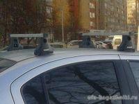 Багажник на крышу на Suzuki SX4 sedan/hatchback 2007-13, Атлант, прямоугольные дуги