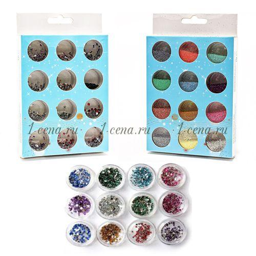 Наборы для декорирования ногтей 12 цветов