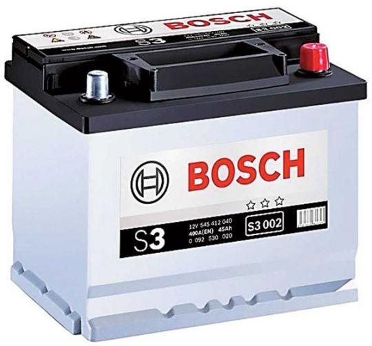 Автомобильный аккумулятор АКБ BOSCH (БОШ) S3 002 / 545 412 040 S3 45Ач о.п.