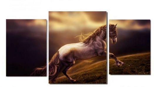 Модульная картина Лошадь. Сумерки