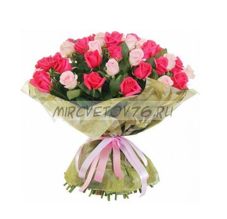 Букет 41 розовая роза