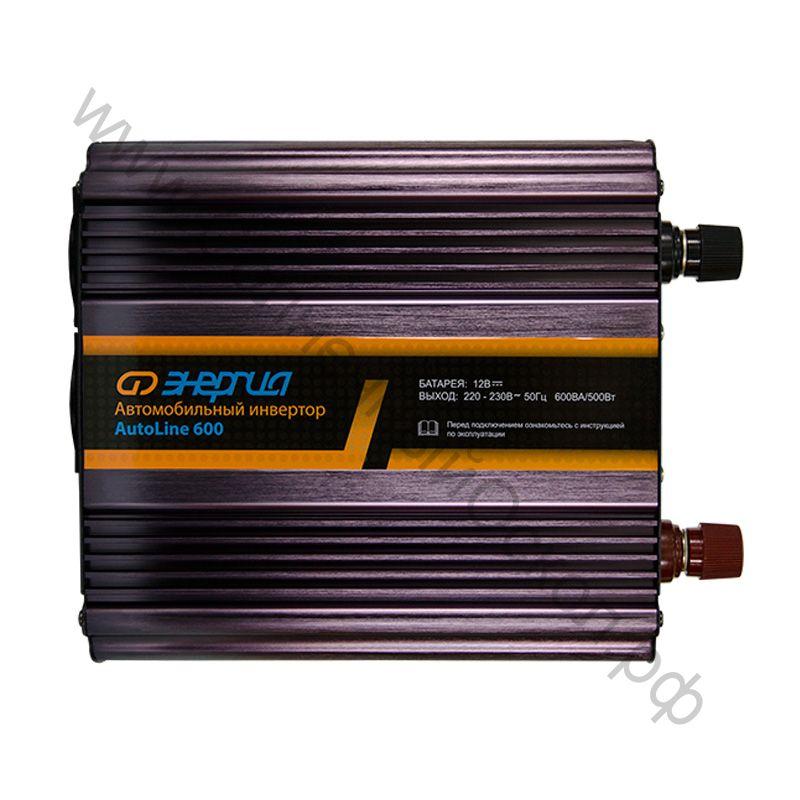Автомобильный инвертор Auto Line Plus 600 С Е0201-0015 с зарядным устройством