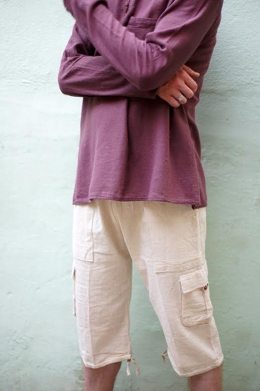 Светлые мужские шорты из эко-хлопка (СПб)