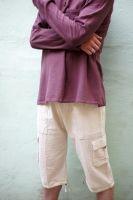 Мужские светлые бриджи (шорты) из органического хлопка с карманами, интернет магазин Москва