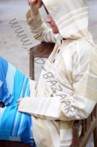 Мужская кофта с капюшоном, джут