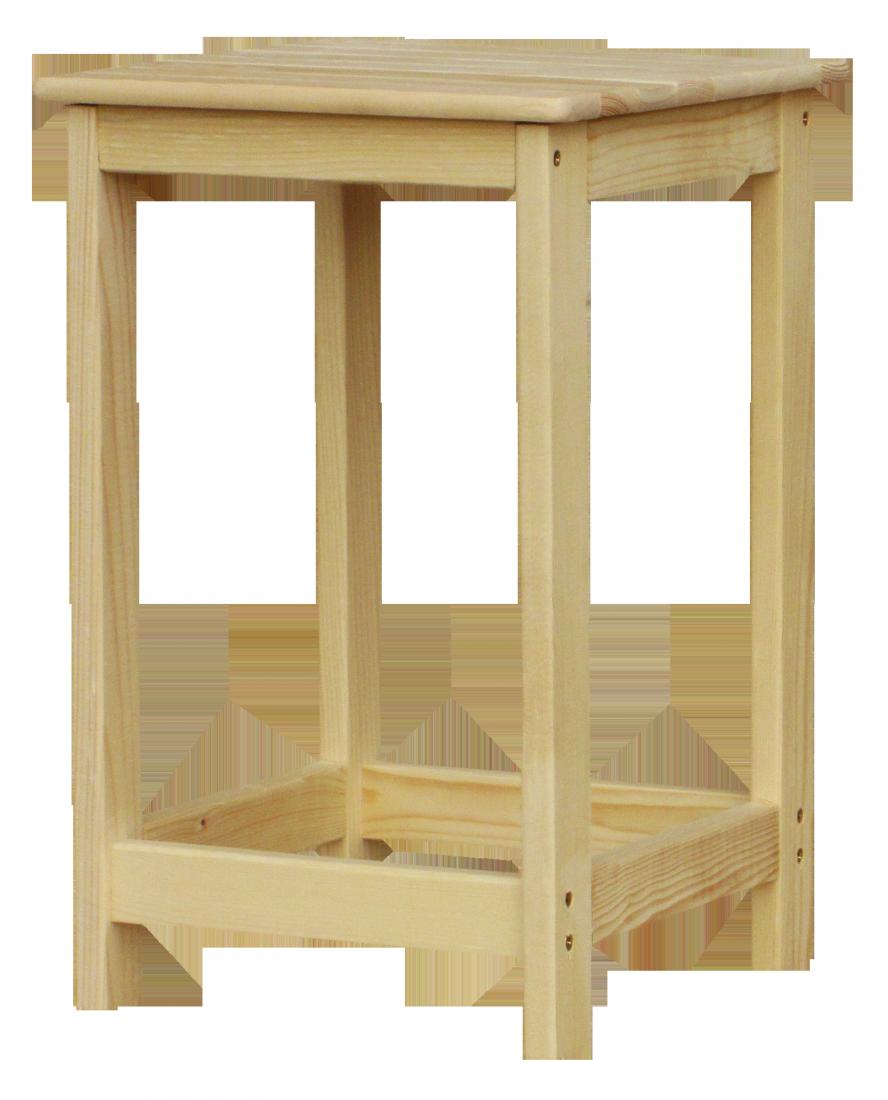 Табурет деревянный Кухонный без покрытия ТК-45-Б