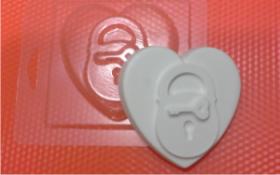 Форма для мыла Сердце на замке БП