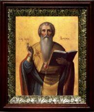Антипа Пергамский (19х22), темный киот