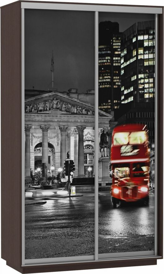 Шкаф-купе Дуо-двухдверный Фото (Ночной Лондон) | E1 Экспресс