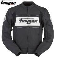 Мотокуртка кожаная Furygan Houston Amo 2, Черный с белым