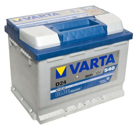 Автомобильный аккумулятор АКБ VARTA (ВАРТА) Blue Dynamic 560 408 054 D24 60Ач ОП