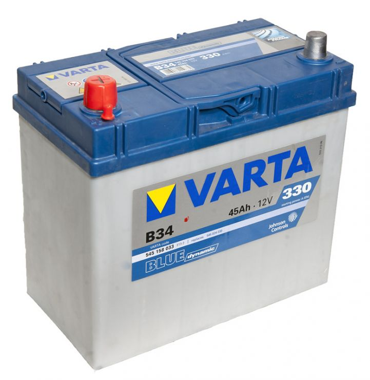 Автомобильный аккумулятор АКБ VARTA (ВАРТА) Blue Dynamic 545 158 033 B34 45Ач ПП