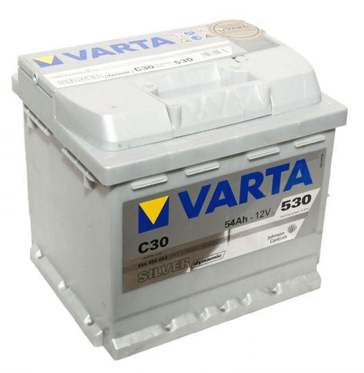 Автомобильный аккумулятор АКБ VARTA (ВАРТА) Silver Dynamic 554 400 053 C30 54Ач ОП