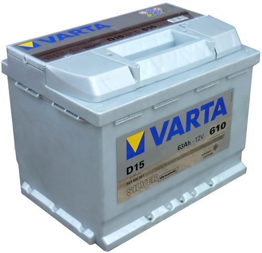 Автомобильный аккумулятор АКБ VARTA (ВАРТА) Silver Dynamic 563 400 061 D15 63Ач ОП