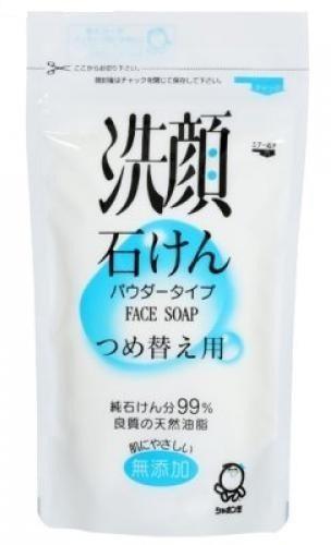SHABONDAMA Натуральное порошковое мыло для умывания лица 80 гр. (мягкая эконом. упаковка)