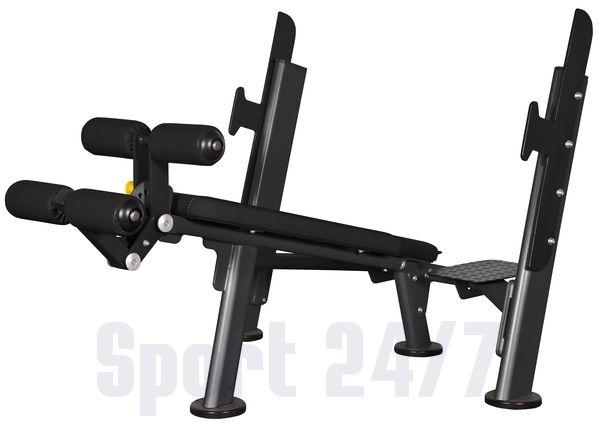Скамья для жима с отрицательным наклоном AFB103 Spirit Fitness