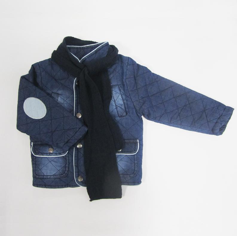 Куртка джинсовая с шарфом