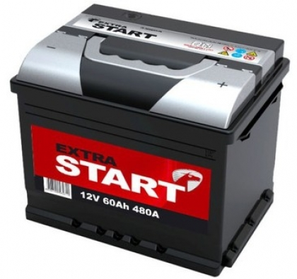 Автомобильный аккумулятор АКБ Extra START (Экстра Старт) 6CT-60 60Ач п.п.