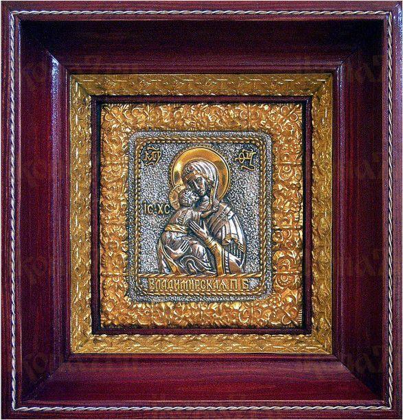 Владимирская икона БМ (17х18), серебро
