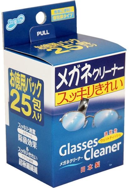 Влажные салфетки для очищения очков Showa Siko Megane 25шт 110мм х 150мм