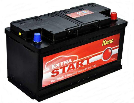 Автомобильный аккумулятор АКБ Extra START (Экстра Старт) 6CT-90 90Ач о.п.
