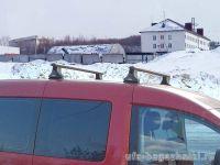 Багажник на крышу Volkswagen Caddy, Атлант, аэродинамические дуги