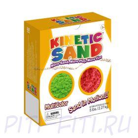Кинетический песок WABA FUN  Kinetic Sand  (2,27 килограмма)  Зеленый, красный