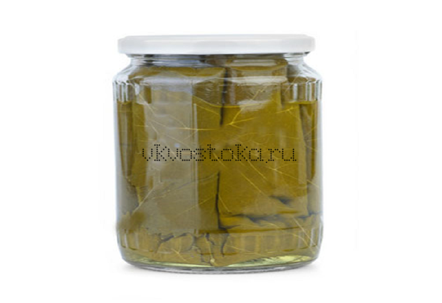 Виноградные листья консервированные банка 1л