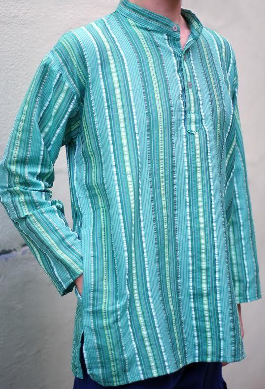 Разные цвета! Мужские рубашки в полоску (отправка из Индии)