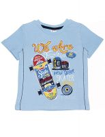 футболка для мальчика 3 лет голубая