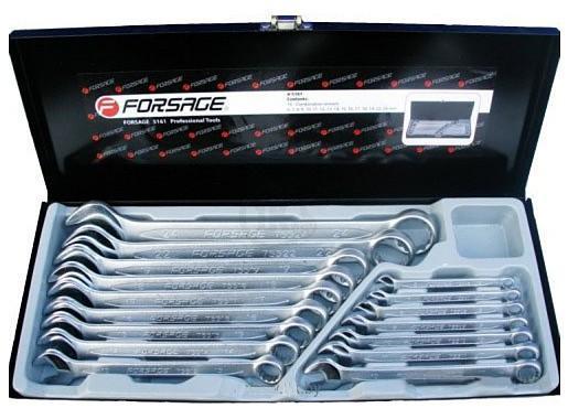 """Ключи комбинированные """"FORSAGE"""" 16 предм. (5161) 6-19, 22, 24 мм, в кейсе"""