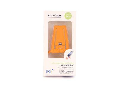 Подставка для зарядки iPhone с USB на Lightning PQI (made for iPhone, iPod) оранжевый