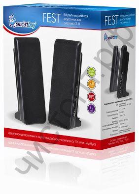 Актив.колонки 2.0 SmartBuy FEST, мощность 4Вт, питание от USB (арт. SBA-2500)