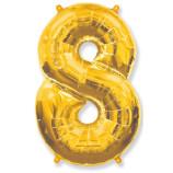 "Фигура ""8""  (40""/102 см) золото"