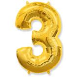 "Фигура ""3""  (40""/102 см) золото"