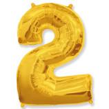 "Фигура ""2""  (40""/102 см) золото"