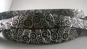 Лента репсовая с рисунком, ширина 22 мм, длина 10 метров цвет: черный, Арт. ЛР5194-1