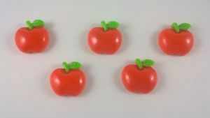 "Кабошон ""Яблочко"", пластик, 18 мм, цвет - красный (1уп=50шт), Арт. КБП0100"