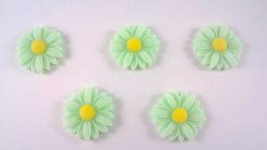 """Кабошон """"Подсолнух"""", пластик, цвет - зеленый,  22 мм (1уп=50шт)"""