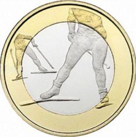 Лыжный спорт 5 евро Финляндия 2016 Новинка!