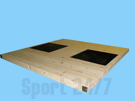 Помост тяжелоатлетический РФП для соревнований (Размером 4м х 4м х 10см)